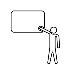 Teacher standing near blackboard black color icon vector