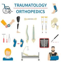 Traumatology And Orthopedics Icons vector image