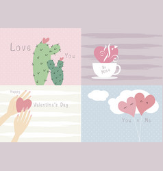 valentines day card design love concept vector image