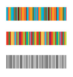 Vertical colorful stripes abstract background vector