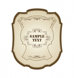 Vintage label wine vector