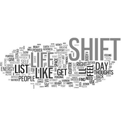 What s on your shift list text word cloud concept vector
