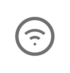 wifi signal grey icon isolated on white vector image