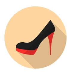 Woman high heel shoes flat icon vector image