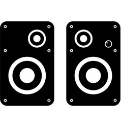 computer speakers icon vector image vector image