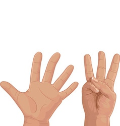 Eight from fingers vector image