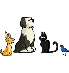 four animals vector image