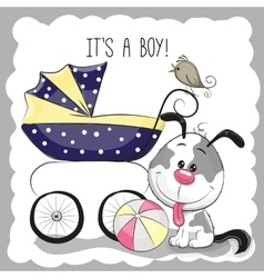 Greeting card it is a boy vector image