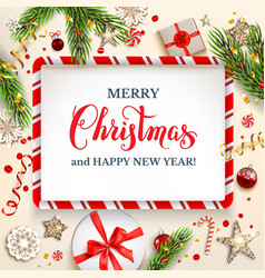 holiday light cristmas card vector image