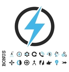 Electricity Flat Icon With Bonus vector image