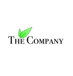 green leaf company logo vector image