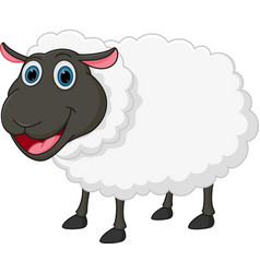 happy sheep cartoon vector image