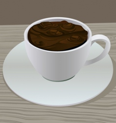 hot chocolate vector image