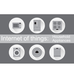 Iot - home appliances icons vector