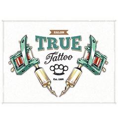 Tattoo Print 1 vector image vector image