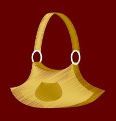 flat shading style icon clothes handbag vector image vector image