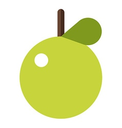 Green apple Flat style Apple icon Logo element vector image