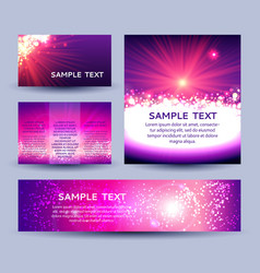 set of abstract sunburst background templates vector image vector image
