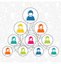 Social networking people vector image