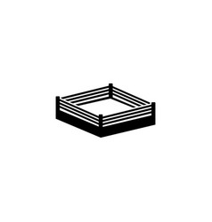 boxing ring flat icon vector image