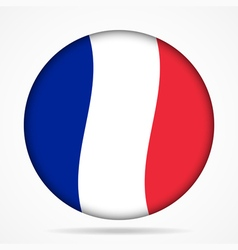 button with waving flag of France vector image vector image