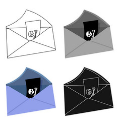 e-mail with key password icon in cartoon style vector image vector image