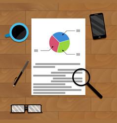 Financial file on wood desk for presentation vector