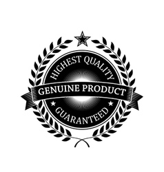 Highest Quality Guaranteed Genuine label vector image