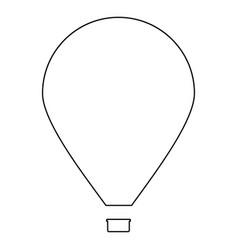 Hot air balloon the black color icon vector