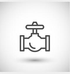 industrial valve line icon vector image