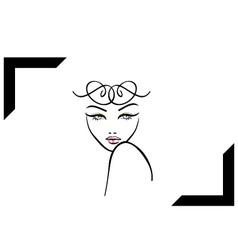 Model shoot- photography logo vector image vector image
