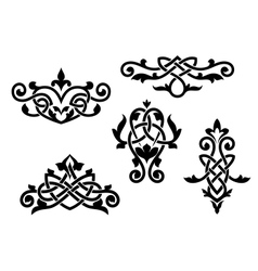 Vintage patterns and embellishments vector