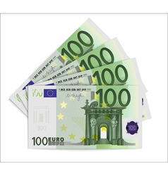 100 Euro bills vector image