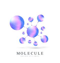 3d logotype icon dna molecule atom gene neural vector