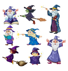 A group of wizards vector image