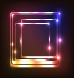 Abstract glowing background with rounded rectangle vector image