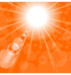 Abstract Sun Background Orange Summer Pattern vector image