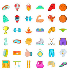 active accessories icons set cartoon style vector image