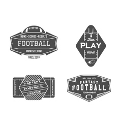 American football field geometric team or league vector