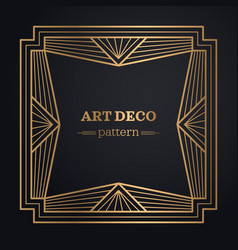 Art deco frame background vector