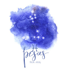 Astrology sign pisces vector