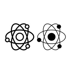 atom line and glyph icon nuclear power vector image