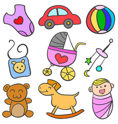 baby object set vector image