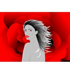 Beautiful vampire woman vector image