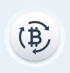 bitcoin exchange button vector image
