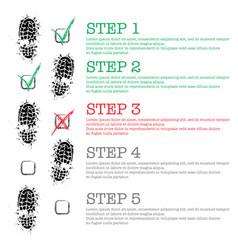 Black shoes steps background vector