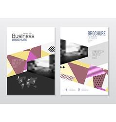 Business Brochure design Annual report temp vector image