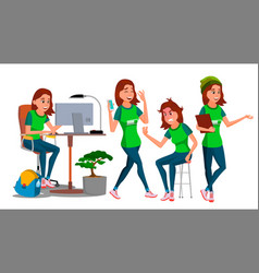 Business woman character young female in vector