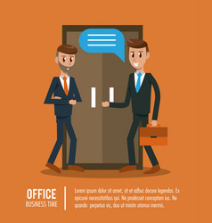 Business workers in office vector