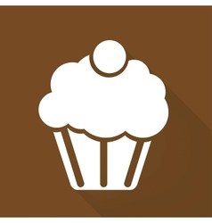 Cake web icon vector